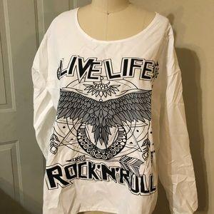 Tops - Long sleeve rock roll shirt